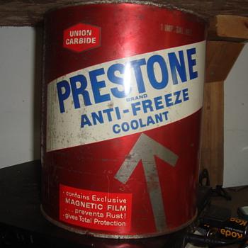 oil  antifreeze   and brake fliud  cans - Petroliana