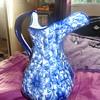 gorgeous blue floral jug
