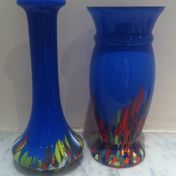 Hallmarked Rindskopf and Kralik (?) blue tango - 1929 - Art Glass