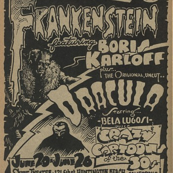 Rick Griffin Frankenstein Dracula Flyer very rare - Posters and Prints