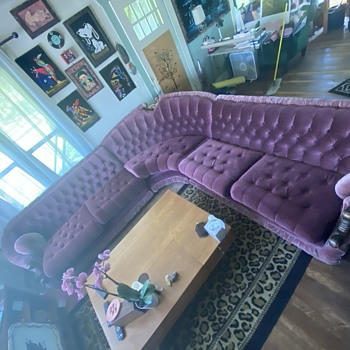 Purple Velvet Sectional  - Furniture