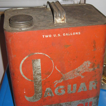 Jaguar motor oil can by lifetime company NY NY - Petroliana