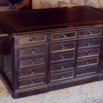 French antique ebony desk - Furniture