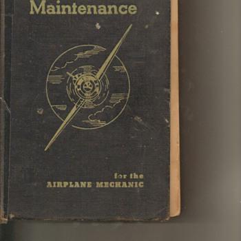 1940 Aircraft Maint. Book - Books