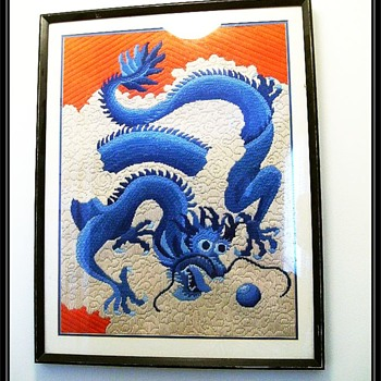 Asian Dragon Weaved Picture (?) - Asian