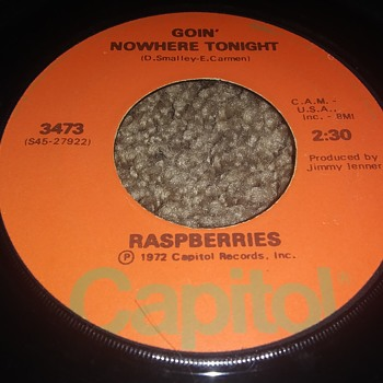 The Rasberries And Eric Carmen...On 45 RPM Vinyl - Records