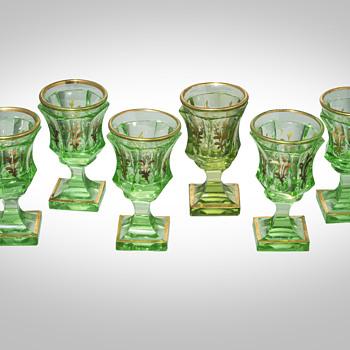 J Riedel set of 6 cordials  - Art Glass