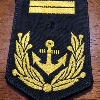 This is my Dad's Navy Patch - Military and Wartime