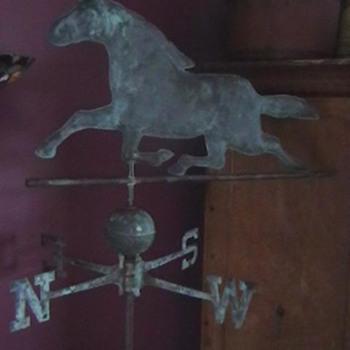 1890's-1910 Ethan Allen Style Horse Weathervane - Folk Art