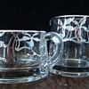 Art Deco Glass Cream and Sugar with Silver Overlay