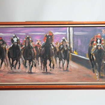 Horse Racing Oil Painting