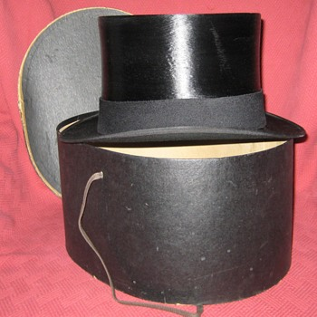 1950's Tress & Co. Silk Top Hat - Hats
