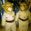 Safari Figurines: Lion and Cheetah