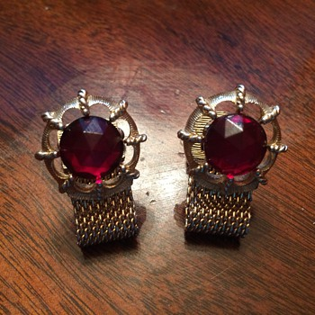 My very first pair of cufflinks. I acquired them in 1984 when I was Six Years Old - Accessories