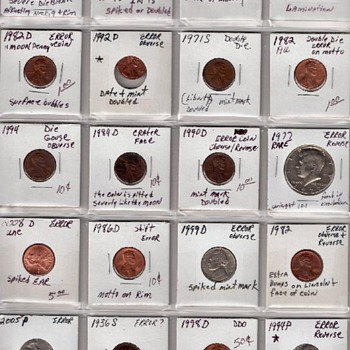 20 Coin Lot American Error Coins
