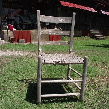 Primitive Chair found in Barn. Need Help Identifying - Furniture