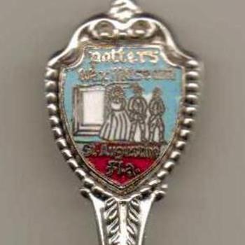 """Souvenir Spoon - """"Potters Wax Museum"""" - Silver"""