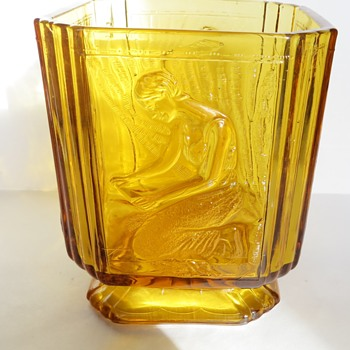 Sowerby Glass Biscuit Jar - Pandora Box no. 2544 (no lid!) - Glassware
