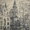 Etching~Yale's Battell Chapel, 1914~Signed HML