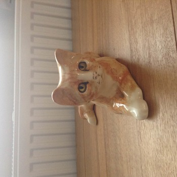 Cat... with the eyes that watch you walk across the room  - Pottery