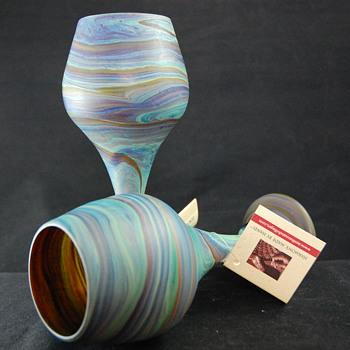 Phoenician Glass - West Bank Goblets - Art Glass