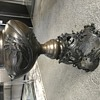 Bronze Dragon Cache Pot or Floor Vase Wave Like Removable Base