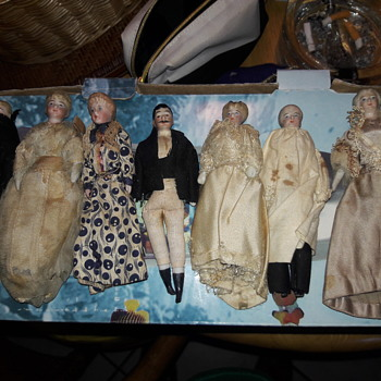 Please help identify these 19th century dolls - Dolls