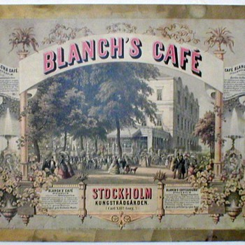 Blanch's Cafe Kungstradgarden Litho.