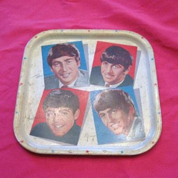 Beatles Tin Tray - Music Memorabilia