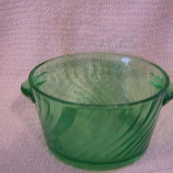 Small Dark Green Bowl - Glassware