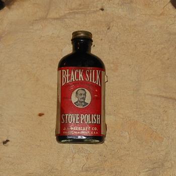 Black Silk Stove Polish 1910-1930 - Bottles