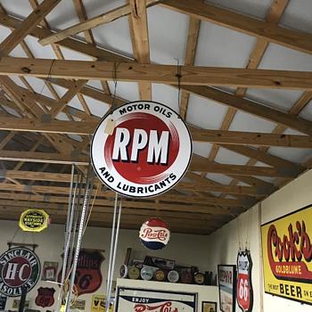 R P M motor oil sign 3ft  - Petroliana