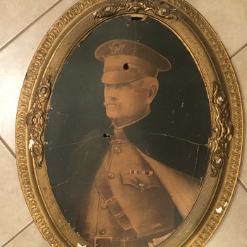 Old  military picture. Found under old house - Military and Wartime