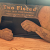 "1932 Sun Oil Company ""Two Fisted"" Embossed Sign"