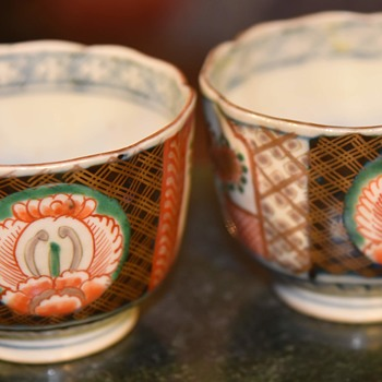 Two Edo  Imari Cups - Asian