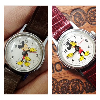 Restored beauty: Ingersoll 50's Mickey Mouse Watch #00 - Wristwatches