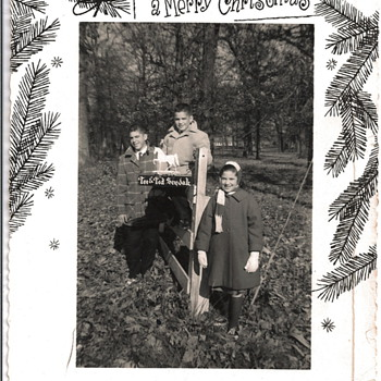 Vintage Christmas Photocards - Photographs