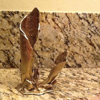 Art Nouveau Bronze Sculpture Vase - Art Nouveau