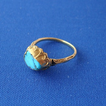 17th Century Gold Turquoise Ring - Fine Jewelry