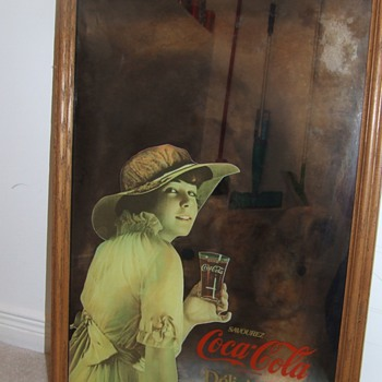 Antique frames from Europe, antique coca0cola mirrors and cooler