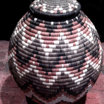 African Basket with papers - Native American