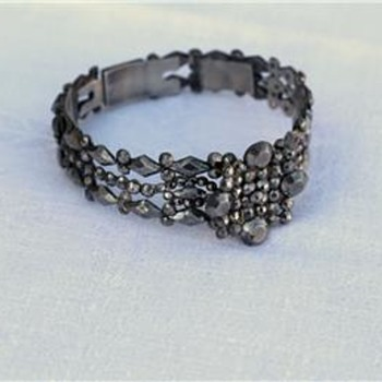 Antique rare victorian cut steel bracelet  - Fine Jewelry