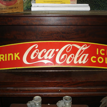 "Early"" Coke""  Truck or Taxi sign - Signs"