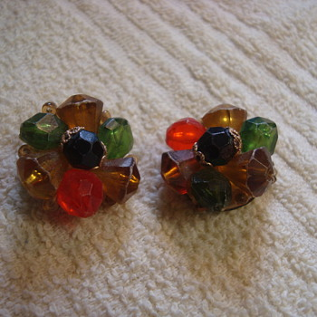 Beautiful bead clip-ons - Costume Jewelry