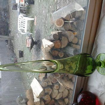 My Big green vase - Art Glass