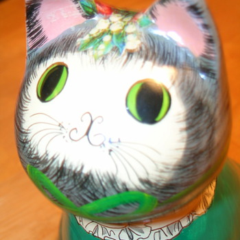 Vintage Cat Bank  **NEED Help Identifying** - Pottery