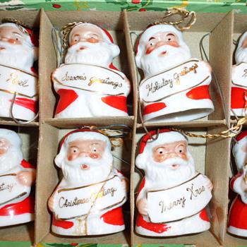 SANTA ORNAMENTS FROM JAPAN - Christmas