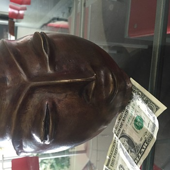 Mid-Century Bronze Head Vase/Vessel/Pitcher - Fine Art