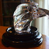 JACQUES G. DURAND of VERRERIES CRISTALLERIES D'ARQUES Signed CRYSTAL EAGLE HEAD Paperweight