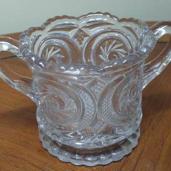 Glass sugar dish - Glassware